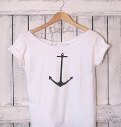 FREE SHIPPING Nautical Anchor Simplistic Anchor by pebbyforevee, $28.00