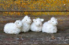 Needle Felted Sheep flock by Teresa Perleberg