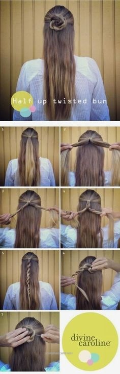Fantastic 40 Easy Hairstyles for Schools to Try in 2017. Quick, Easy, Cute  and Simple Ste…  40 Easy Hairstyles for Schools to Try in 2017. Quick, Easy, Cute  and Simple Step By Step Girls and Tee ..