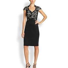 Women's Fashion Sexy V Neck Lace Dress - USD $ 64.99