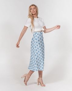 Shopping Goods 7942   Kin Custom: On-Demand Print and Dropship, Made Easy Lace Skirt, Midi Skirt, A Line Cut, Chiffon Fabric, Fabric Weights, Make It Simple, Fitness Models, Chic, Easy