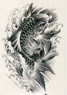Generally, koi fish tattoo designs are regarded as one of the most popular Koi Tattoo Design, Japan Tattoo Design, Tattoo Designs Men, Fake Tattoos, Body Art Tattoos, Sleeve Tattoos, Tattoos For Guys, Temporary Tattoos, Japanese Koi Fish Tattoo