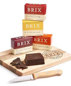 Brix Chocolate 4-pc Gift Set. Chocolate for wine. Wine pairing.