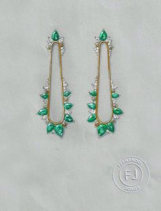 Fernando Jorge Emerald Earrings