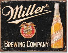 Miller Brewing Vintage Tin Sign, $8.95