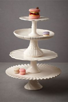 Royal Icing Cake Stands from BHLDN