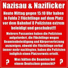 """Darüber sollten gerade die """"MultikultiGutmensch""""-Liebhaber mal nachdenken!!! Denn den aufgestauten Frust, weil Polizisten """"politisch korrekt"""" handeln sollen, lassen sie dann an den """"Nazis"""" raus! Es wird nur nicht mehr GERECHT gehandelt!"""