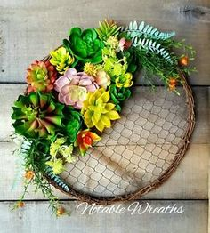 succulent-wreath-chicken-wire-wreath-repurposed-wreath-summer-wreath-spring