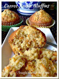 Carrot Raisin Muffins (红萝卜葡萄干小松饼)#guaishushu #kenneth_goh#carrot_muffins#红萝卜小松饼
