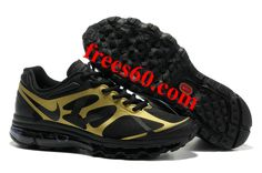 frees60.com for half off nike shoes $62.26 , Mens Nike Air Max 2012 Black Metallic Gold Shoes