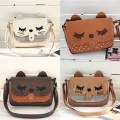 Imitation leather cat messenger bag - 26cm x 15 x 5cm in size GIVE IT TO ME NAO!