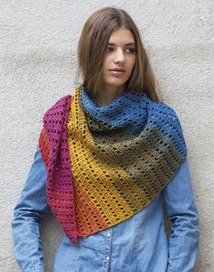 Book extra 16 Autumn / Winter | 374: Woman Shawl | Multicolour