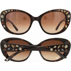 Rock With You Sunglasses by Brighton.  I love the way these look on my face but they would probably work with most facial shapes.  The decorative crystals really make these stand out.