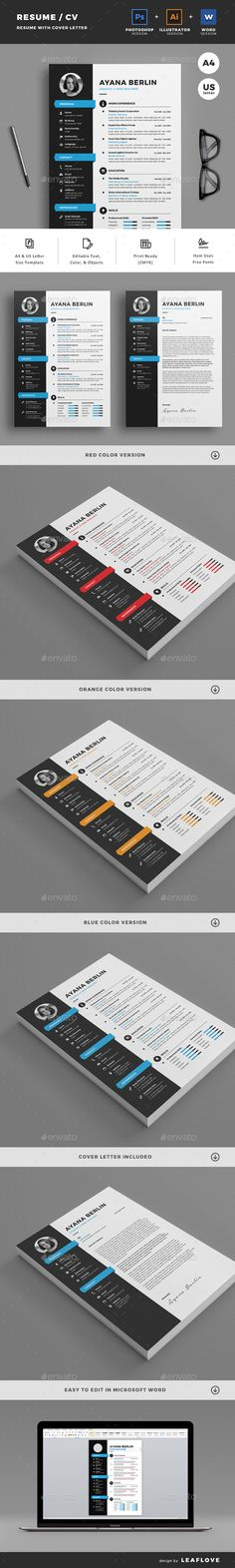 Resume - Resumes Stationery Download here: https://graphicriver.net/item/resume/19823273? ref=classicdesignp