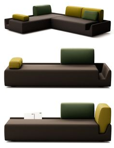 Fossa%20Sofa%201 Fossa Modular Couch Adjusts to Any Corner of the House
