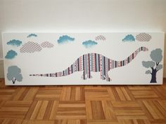 Dinosaure collage et peinture