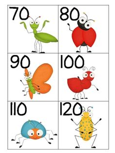 Count by 10s to 200 with these buggy numbers. Recording sheet included.