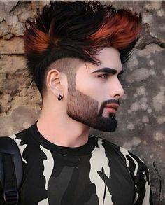 Stunning Haircuts for Men - Vincisjournal Beard Styles For Men, Hair And Beard Styles, Hair Styles, Beards And Hair, Undercut Hairstyles, Boy Hairstyles, Cool Hairstyles For Men, Mens Hair Colour, Hair Color