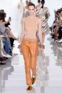 Colección Primavera Verano Roberto Cavalli 2018 pantalón naranja