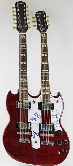 Gibson Epiphone SG Custom double-neck signed by Jimmy Page, Robert Plant & John Paul Jones