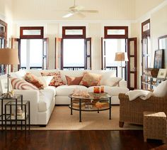 Cozy room with Tanner Nesting Tables #potterybarn #PBPINS http://www.potterybarn.com/