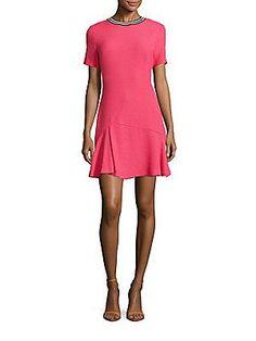 Sandro Reva Textured Sheath Dress - Pink - Size 3 (L)