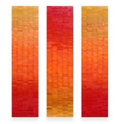 """Anne Moran & Robert Brown copper wall sculpture, oxidation and paint, 84"""" h x 60"""" w, www.moranbrown.com for more"""
