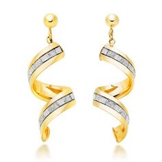 Beaverbrooks   9ct Gold Glitter Twist Earrings #Beaverbrooks #RaceReady #Jewellery