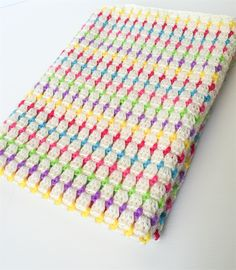 Boutique Creations — Candy Pop Crochet Baby Blanket