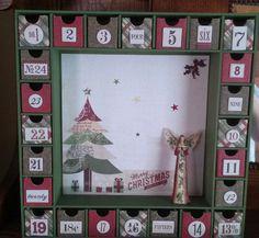Christmas Tree Advent Calendar by SmartArtbySusie on Etsy
