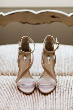 Blush Strappy Sandals wedding shoes