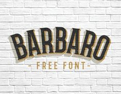 Barbaro free font is serif with two versions, roman and western, with a really cool look that take us to those old western movies titles the western version is really cool. The roman version is also suitable for other hipster moods. It's free for personal and comercial use. Another must have. Credits for:Iván Núñez      ...