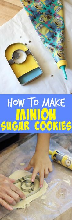 Baking Minion Sugar Cookies with my kids is easy with the right baking tools!