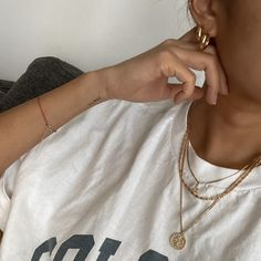 Cute Piercings, Gold Aesthetic, Gold Filled Jewelry, Casual Street Style, Jewelry Trends, Summer Outfits, Lobster Clasp, Rust, My Style