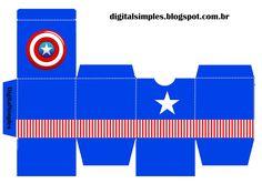 Convites Digitais Simples: Caixa Cubo Dupla com Personagens Fiesta Batman Lego, Lego Batman Party, Superhero Theme Party, Party Themes, Anniversaire Captain America, Captain America Party, Baby Shower Crafts, Captain American, 6th Birthday Parties