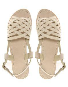white sandals-pretty!
