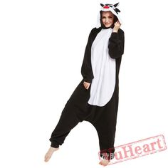 Adult Black Wolf Onesie Pajamas / Costumes for Women & Men
