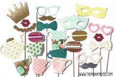 Tea Party Props  Limited Edition Photo Booth by TheManicMoose