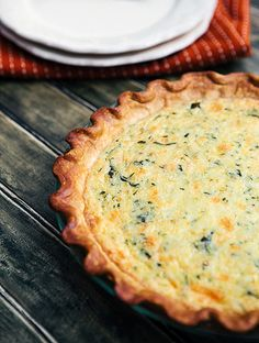 Zucchini Basil Quiche from Some the Wiser