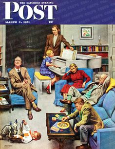 Home Recital by John Falter, March 3, 1951, The Saturday Evening Post.