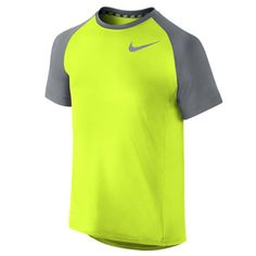 Shop Nike Boys  Miler Crew Running Short-Sleeve Shirt Yellow at Tony Pryce  Sports. adf70779e896