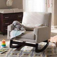 baxton studio iona mid century retro modern. baxton studio imperium modern beige rocking chair with pillow iona mid century retro u
