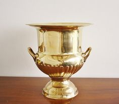 Large vintage brass ice bucket or champagne by highstreetmarket, $48.00