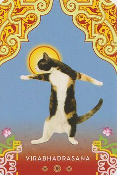 Cat Warrior Pose #Yoga | Loved and pinned by www.downdogboutique.com