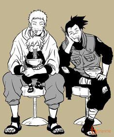 Naruto and Boruto with Iruka - sensei Anime Naruto, Naruto Comic, Naruto Uzumaki, Naruto Chibi, Naruto Gaiden, Naruto Fan Art, Naruto Cute, Shikamaru, Naruto And Sasuke