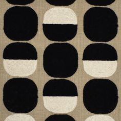Contemporary Fabric, Contemporary Home Decor, Contemporary Design, Modern Design, Greenhouse Fabrics, Textile Patterns, Dots, Black Fabric, Kids Rugs