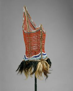 Men's beaded bodice, mid-20th century, African (Dinka peoples).