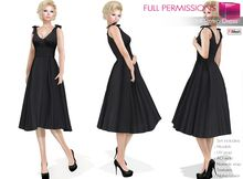 6021fd115a4 Full Perm Rigged Mesh and Fitmesh Women s Retro Dress Set. FitMesh and Mesh  Women s Retro Dress in 5 sizes