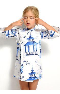 Vestido blanco pagodas #kimono #kimonokids #niña #girl #vestido #dress #fashionkids #modainfantil #japan