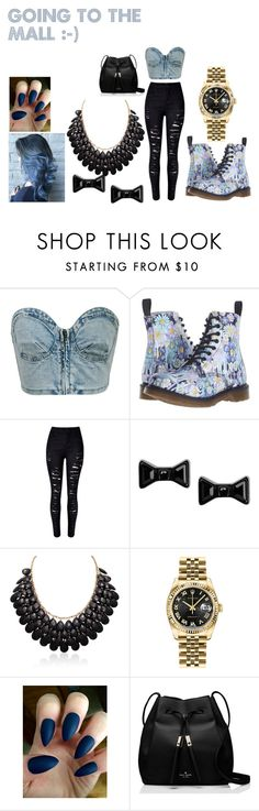 """""""Untitled #33"""" by aniapenguin on Polyvore featuring Chicnova Fashion, Dr. Martens, WithChic, Marc by Marc Jacobs, Rolex and Kate Spade"""
